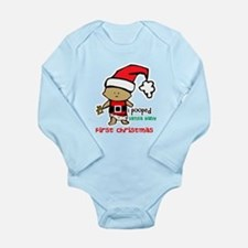 Customize Baby's First Christmas Long Sleeve Infan