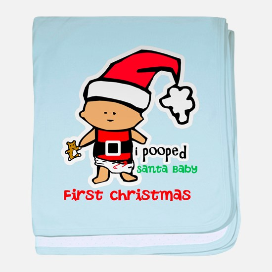Customize Baby's First Christmas baby blanket