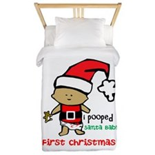 Customize Baby's First Christmas Twin Duvet