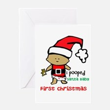 Customize Babys First Christmas Greeting Cards