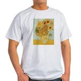 Van gogh sunflower Mens Light T-shirts