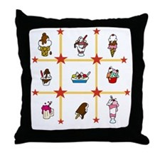 Ice Cream Treats Throw Pillow