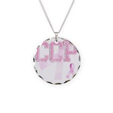 CCP initials, Pink Ribbon, Necklace