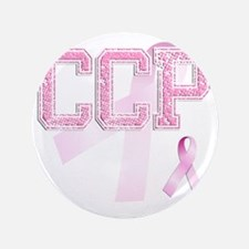"CCP initials, Pink Ribbon, 3.5"" Button"