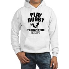 rugby cheaper than therapy Hoodie