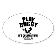 rugby cheaper than therapy Decal