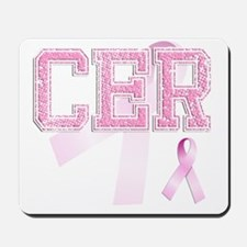 CER initials, Pink Ribbon, Mousepad