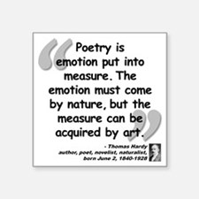 "Hardy Emotion Quote Square Sticker 3"" x 3"""