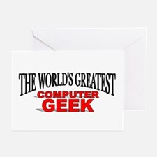 """The World's Greatest Computer Geek"" Greeting Card"