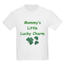 Mommy's Little Lucky Charm Kids T-Shirt