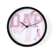DAP initials, Pink Ribbon, Wall Clock