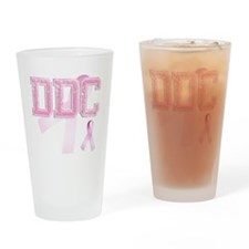 DDC initials, Pink Ribbon, Drinking Glass