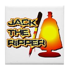 Jack the Ripper in Orange Tile Coaster
