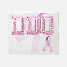 DDO initials, Pink Ribbon, Throw Blanket