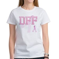 DFF initials, Pink Ribbon, Tee