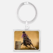 Barrel Racing Landscape Keychain