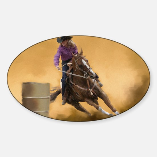 Barrel Racing Sticker (Oval)