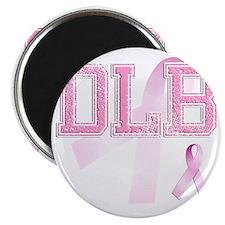 DLB initials, Pink Ribbon, Magnet