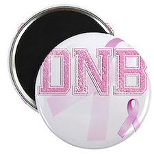 DNB initials, Pink Ribbon, Magnet