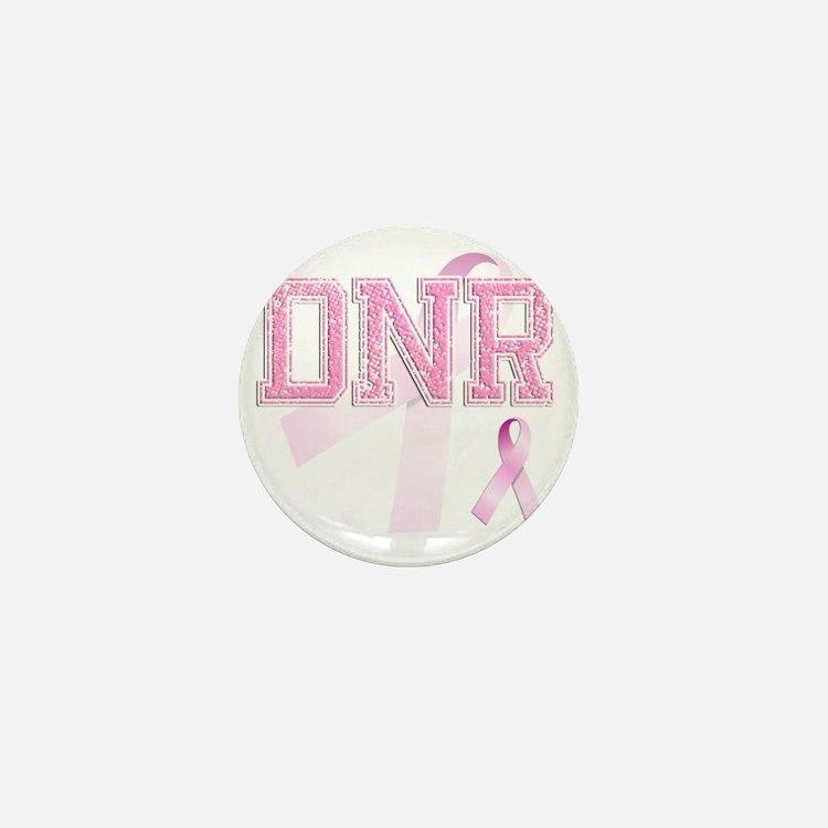 DNR initials, Pink Ribbon, Mini Button