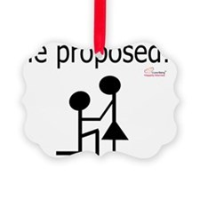 He proposed! Ornament