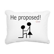 He proposed! Rectangular Canvas Pillow
