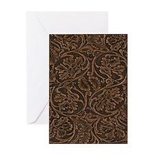 saddle leather vert Greeting Card