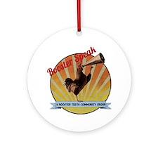 Vintage Rooster Speak Round Ornament