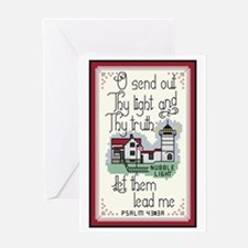 Nubble Lighthouse, York, Maine Greeting Card