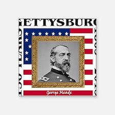 "George G. Meade - Gettysbur Square Sticker 3"" x 3"""