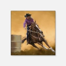 "barrel racing pillow Square Sticker 3"" x 3"""