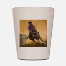 barrel racing pillow Shot Glass