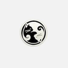Yin Yang Cat Pet Tag Mini Button