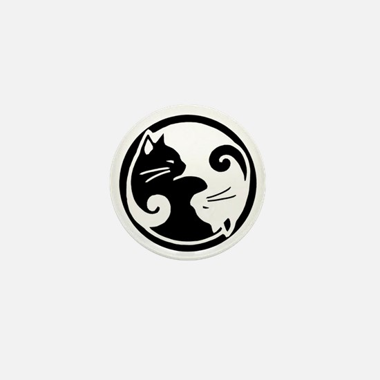 Yin Yang Cat Pet Tag Mini Button