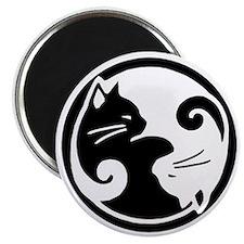 Yin Yang Cat Pet Tag Magnet