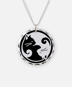 Yin Yang Cat Pet Tag Necklace
