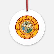 Florida Freemasons Round Ornament