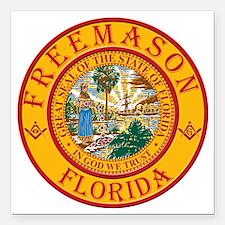 "Florida Freemasons Square Car Magnet 3"" x 3"""