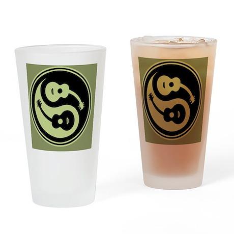 guit-yang1-grn-OV Drinking Glass