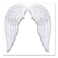 """Wings Square Car Magnet 3"""" x 3"""""""