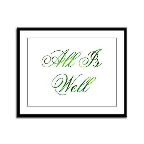 All is Well Design #1 Framed Panel Print