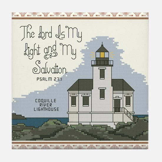 Coquille River Lighthouse, Bandon, Or Tile Coaster