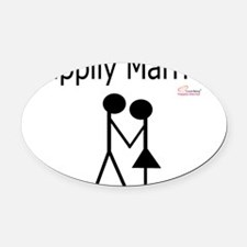 Happily Married Oval Car Magnet
