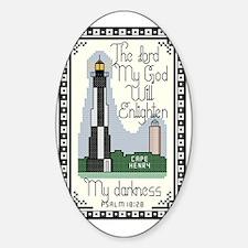 Cape Henry Lighthouse, Virginia Bea Sticker (Oval)