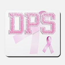 DPS initials, Pink Ribbon, Mousepad