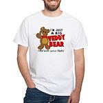 Big Teddy Bear White T-Shirt