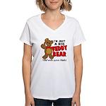 Big Teddy Bear Women's V-Neck T-Shirt
