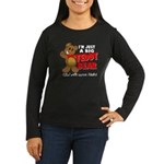 Big Teddy Bear Women's Long Sleeve Dark T-Shirt