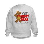 Big Teddy Bear Kids Sweatshirt