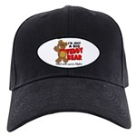 Big Teddy Bear Black Cap